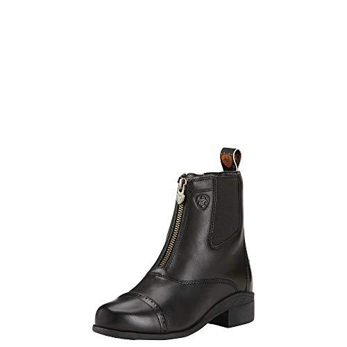 - Ariat Unisex Baby Devon Iii Zip Black 100% Leather Boot Youth 1 Medium (D) US