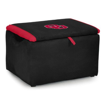 Kidz World Upholstered Storage Bench Toy Box University of Oklahoma by Kidz World