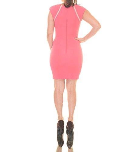 Sleeveless Size Trim Junior's Mesh City Studios Pink 3 naFXXq