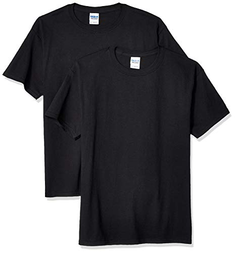 (Gildan Kids' Big Ultra Cotton Youth T-Shirt, 2-Pack, Black, Medium)