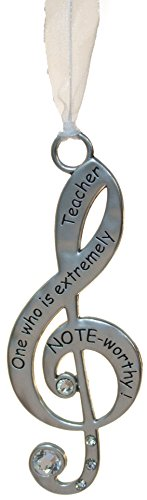 (Gnz 3 Inch Music Lover's Life is Music Zinc Ornament - Note-Worthy Teacher)