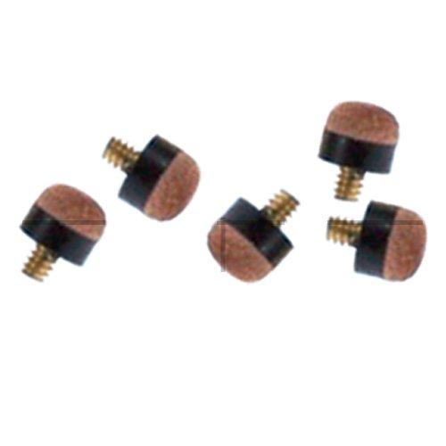 IQ Pool Cuesol - Puntas con tornillo para taco de billar (10 mm, 10 unidades), color negro y marrón