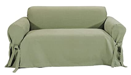 Incredible Classic Slipcovers Brushed Twill Loveseat Slipcover Sage Dailytribune Chair Design For Home Dailytribuneorg