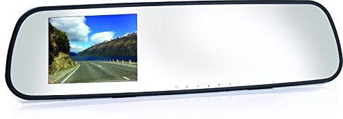 Coby DCHDM-301 Rearview Mirror 1080p Car Dash Cam and DVR Box (Black)