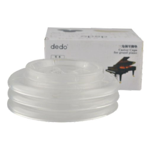 Sound harbor PA-16 ABS Plastic Material,Grand Piano Caster Cups Pad (transparent)Set of 3