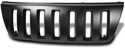 ZMAUTOPARTS Front Upper Grille Grill Black Compatible with 1999-2004 Jeep Grand Cherokee