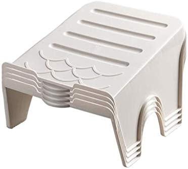 靴箱プラスチック積み重ね可能ブラケット寮ホームダブル収納靴収納ラック、滑り止め、4パック ++ (Color : Apricot)