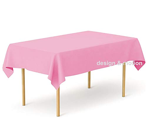 (Heavy Duty Plastic Table Covers Tablecloth (Reusable) (Rectangle 54