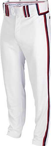 Rawlingsスポーツ用品メンズsemi-relaxed Pant with Braid B00J12BXXG 3L|White/Scarlet/Navy White/Scarlet/Navy 3L