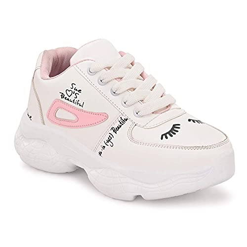 Abhir Women's Synthetic Lace-Up Sport Shoes