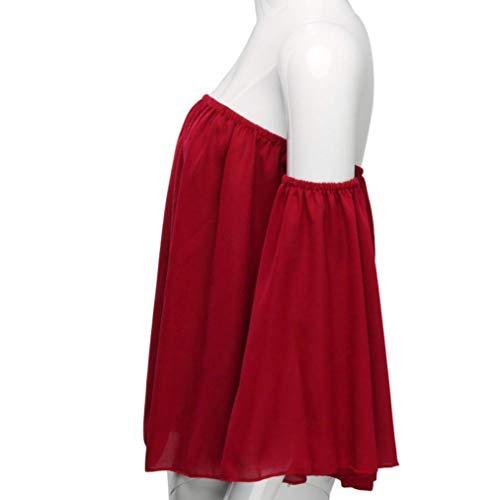 Red Tonda A Manica Camicia Lunga Unita Xmiral Donna Tinta Punta C4vxq