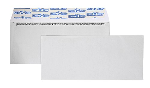 #9 Regular Security Tinted Envelopes -Self Sealing 3-7/8x8-7/8-Inch White Envelopes- Peel And Seal Return Business Envelopes (100/Box) ()