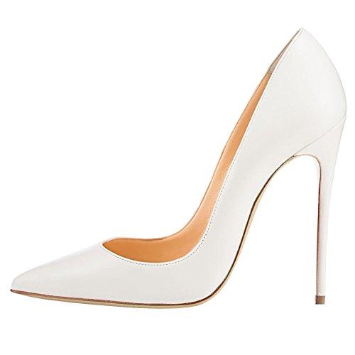 MERUMOTE - Zapatos de tacón fino Mujer Blanco - White-Matte