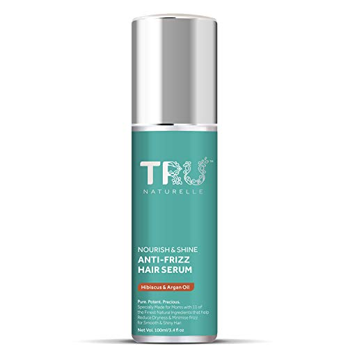 Tru Naturelle Nourish & Shine Anti Frizz Hair Serum with Olive Omega+   2X Anti Frizz Action for Silky & Smooth Hair  11…