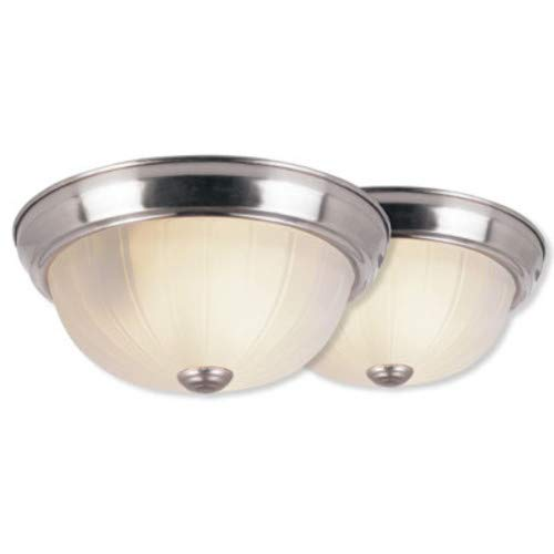 Newbury Traditional 1 Light - Trans Globe Lighting 14010-1 BN Newbury Indoor Brushed Nickel Traditional Flushmount, 10