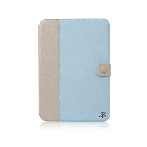 Galaxy Note 10.1 E-Note Diary Wallet Case Cover Collection - Italian Top Faux Leather - Blue by Zenus
