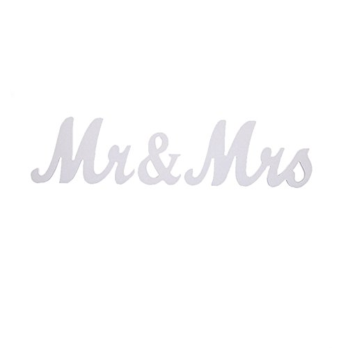 (senover Mr and Mrs Sign Wedding Sweetheart Table Decorations,Mr and Mrs Letters Decorative Letters for Wedding Photo Props Party Banner Decoration,Wedding Shower Gift (White))