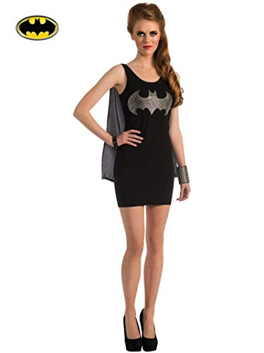 Rubie's DC Superheroes Batgirl Adult Rhinestone Tank Dress With Removable Cape