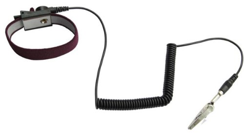 (Anti-Static Wrist Strap Grounding Cord with Adjustable Band - Maroon)