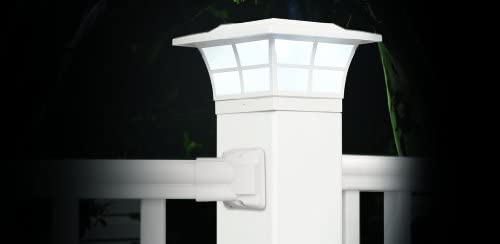 Classy Caps 5X5 PVC PRESTIGE SOLAR POST CAP SL085 White 4-Pack