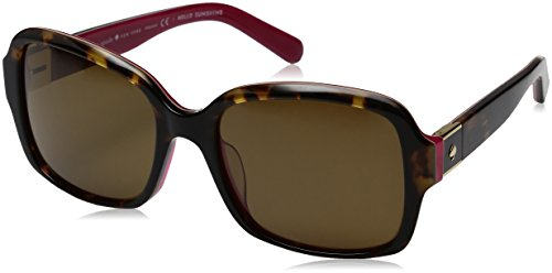 Kate Spade Women's Annora/Ps Rectangular Sunglasses, Havana Pink/Brown Polarized, 54 - Kate Sunglasses