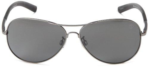 Hommes TB9031SW6109D Polarized Aviator Sunglasses, Gunmetal, 61 mm