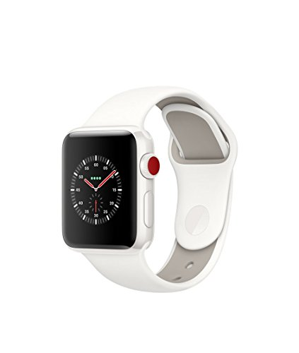 Apple Watch Series 3 Edition - GPS+Cellular - White Ceramic Case with Soft White/Pebble Sport Band - 38mm