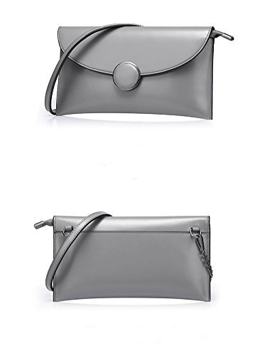 Handbag Women Clutch Grey Dissa Leather Soft Purse Party Bags Qqb095 815Cq