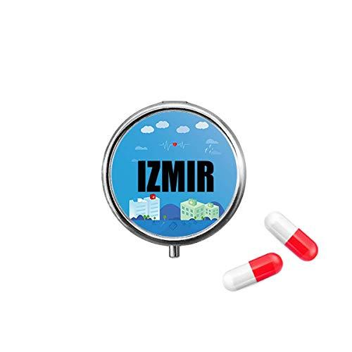Izmir Turkey City Pill Box Purse Medicine Storage Case Health Care