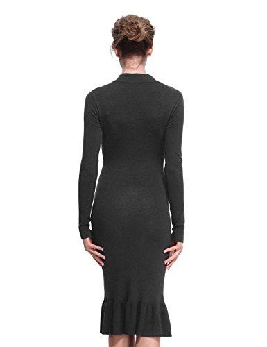 19ada66e ninovino Women's Ribbed Knit Long Sleeve Slim Fit Sweater Dress ...