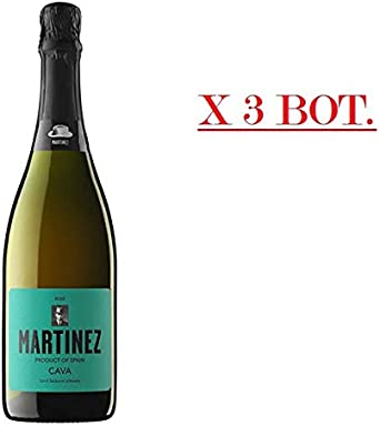 MARTINEZ CAVA ROSADO (PACK DE 3 BOTELLASX75 CL) BRUT NATURE ECOLOGICO: Amazon.es: Alimentación y bebidas