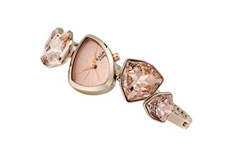 Crystal by Raga I Am Pink Dial Analog Watch for Women ()