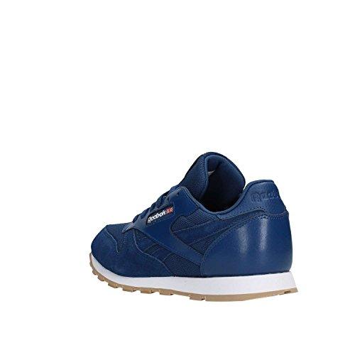 Reebok Classic Leather Estl, Zapatillas Unisex Niños Azul (Washed Blue/White 000)