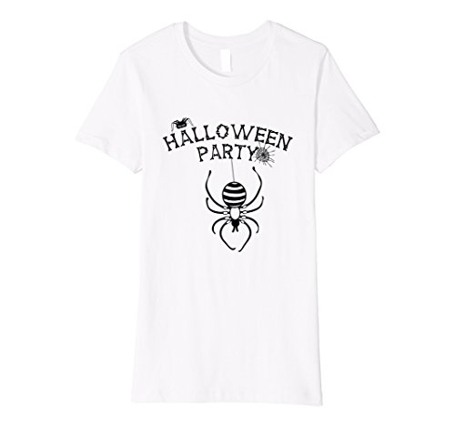 Womens Halloween Party Spider Net Spooky Midnight Nightmare Costume Medium White