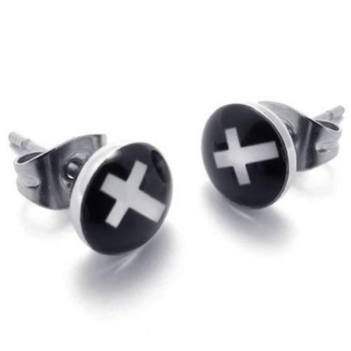 KONOV Two Tone Trendy Stainless Earrings