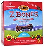 Zuke's Z-Bones Natural Edible Clean Cherry Berry Mini Dog Dental Chews, Pack of 18, My Pet Supplies