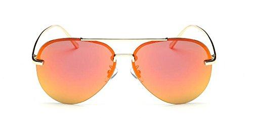 Orange et du en Polarisées Style Pour Retro Inspirées Comprimés Femmes Rouge Soleil Cercle Lunettes Rond Hommes Steampunk Métallique de IwCxq6q8T