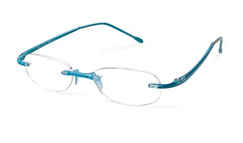 Gels - Lightweight Rimless Fashion Readers - The Original Reading Glasses for Men and Women - Aqua (+2.50 Magnification Power)