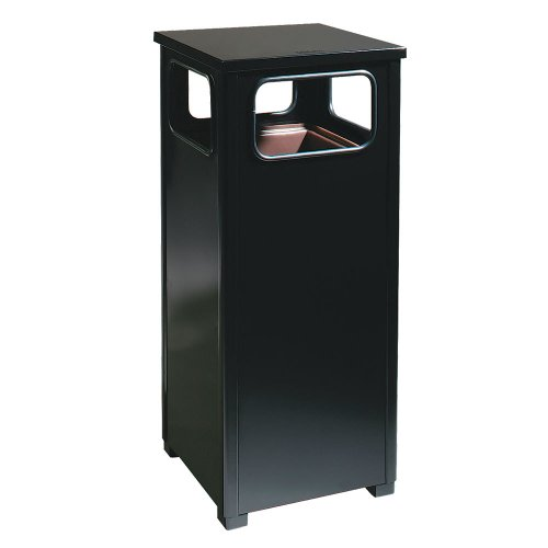 - Rubbermaid Commercial Products FGR12WUSBKPL Dimension Standard Series Ash/Trash Refuse Container with Weather Urn (12-Gallon)