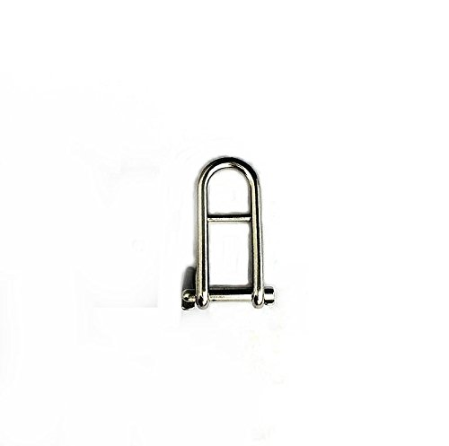 Marine Stainless Steel Keypin Halyard Flat D Boat Shackle with Bar (5/16