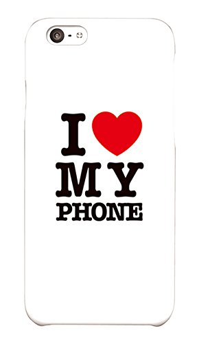 amazon iphone7 iphone8 i love my phone ホワイト ツヤ有り ハード