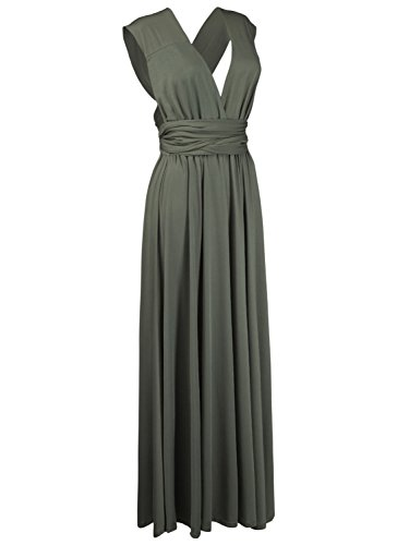 Way Strap Wrap Maxi Armygreen Gown Womens Multi Convertible Dresses Infinity For PERSUN Dresses FqZHHa
