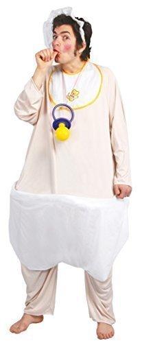 Adulto Hombre BIG BABY IN Pañal Despedida Soltero Halloween Divertido disfraz talla L