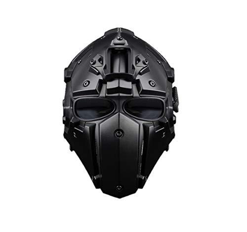 GODNECE Masque Combat Masque Tir Casque Tactique Militaire Casque Intégral Airsoft pour Airsoft Paintball Wargame CS 1