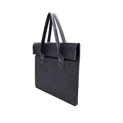 Jiyaru Business Briefcase Bag Felt Laptop Bag Computer Protective Case