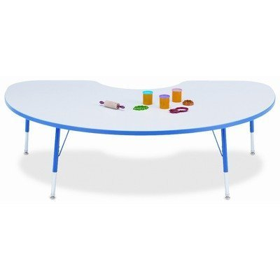 Rainbow Accents Kydz Kidney Activity Table w Powder-Coat Legs (11 - 15 in. H - Navy) by Jonti-Craft