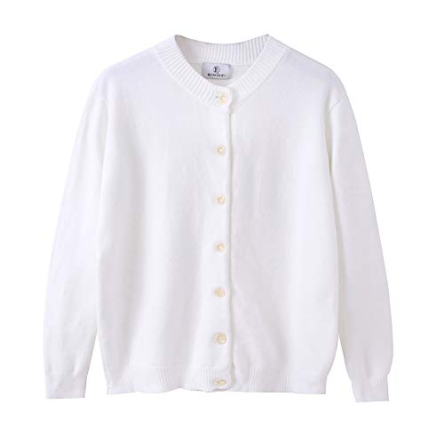 BIMOZI Women Long Sleeve Cardigan Sweaters Button Down Knitwear White XXXL ()