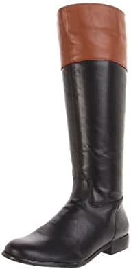 Ciao Bella Women's Tad Knee-High Boot, Black/Ginger Vintage Calf, 6 M US