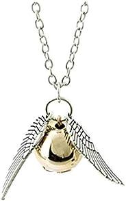 "HYCY BJD 18"" Harry Potter Golden Snitch Necklace Jewelry Set,Harry Potter Pendant Charm Chain Necklaces G"