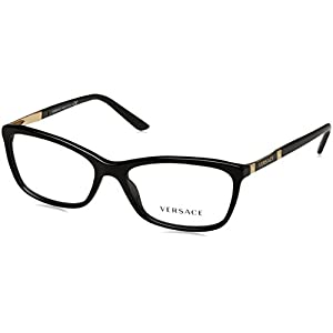Versace VE3186 Eyeglass Frames GB1-54 - Black VE3186-GB1-54